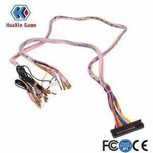 Arcade Interface Cabinet Wire Wiring Harness Pcb Cable For