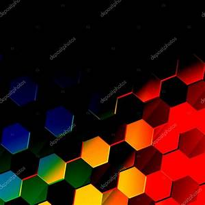 Dark Colorful Hexagonal Background. Unique Abstract ...