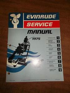 Buy 1975 Evinrude 115 Hp Repair Service Shop Manual 115593