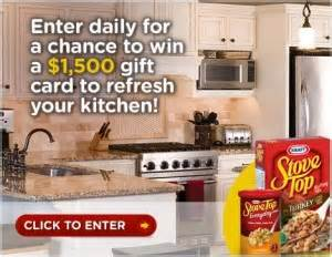 how to win a free kitchen makeover stove top sweepstakes win a 1 500 gift card 9600
