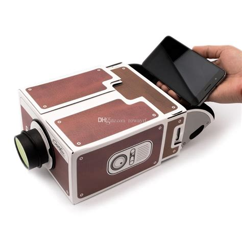 diy cardboard projector  mobile phone portable cinema