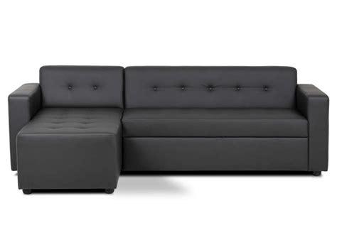 canapé d angle noir conforama canapé d 39 angle convertible 4 places pedro coloris noir en
