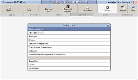 gebruik ngin postregistratie