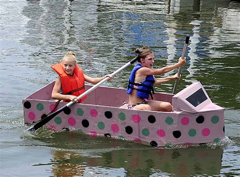 Cardboard Boat Buy by Cardboard Boat Regatta News Photo Gallery Detnews