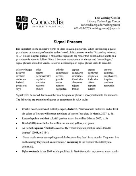 integrating sources  signal phrases citations libguides  kendall college