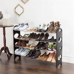 Shoe, Rack, Stackable, Storage, Bench, Closet, Bathroom, Kitchen, Entry, Organizer, 4