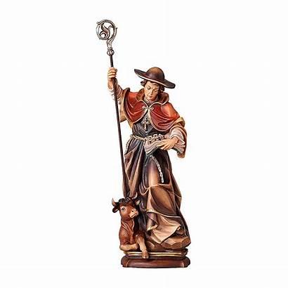 Wooden Valgardena Leonard Coloured Statue Saint Holyart