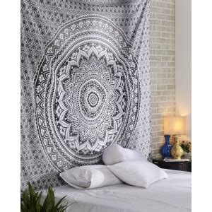 white gray ombre tapestry  bohemian ombre mandala