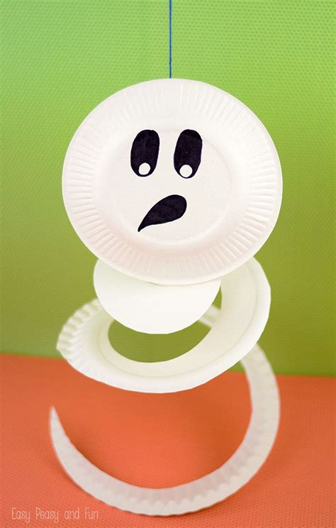 paper plate ghost paper plate crafts  kids paper