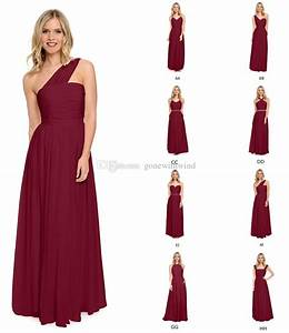 2016 wine blue burgundy bridesmaid dresses long pleated With burgundy dress for wedding guest