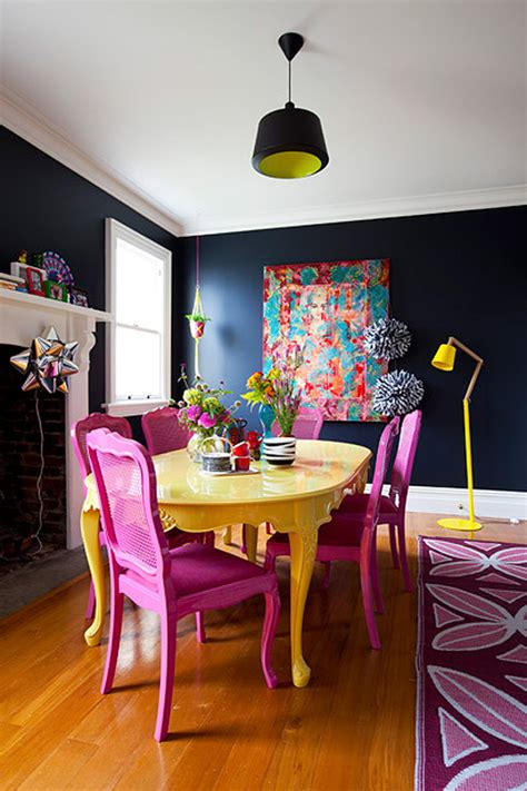 colorful kitchen tables colorful painted dining table inspiration 2352