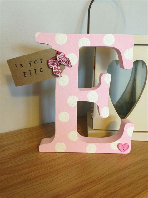 wooden letters decor personalised freestanding wooden letter initial gift baby 25676 | b793439da6825ba8da681a248f17e6af