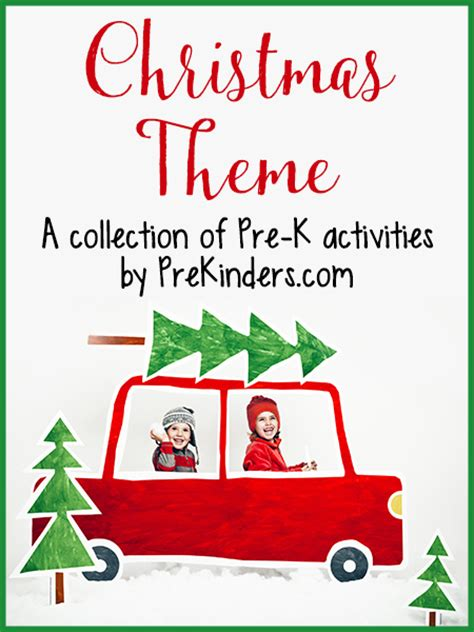 christmas games preschool theme activities for pre k prekinders 194