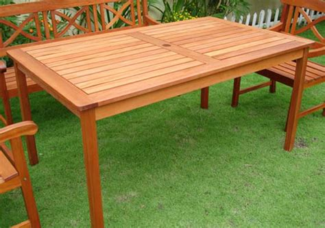 a collection of outdoor wood table designs plushemisphere