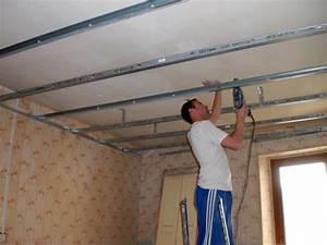 Comment Faire Des Bandes De Placo : faire un faux plafond en placo r nover en image ~ Dailycaller-alerts.com Idées de Décoration