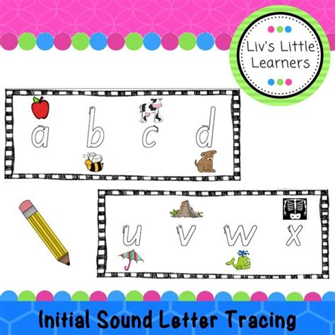 initial sound letter tracing  formation  images