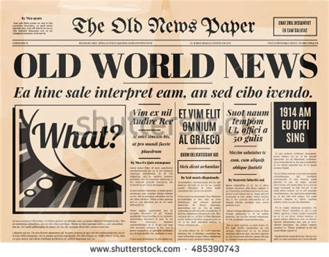 old newspaper template newspaper stock images royalty free images vectors