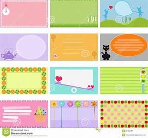 a cute collection of vector label card stock vector With how to make cute labels