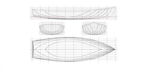 Boat Front View Drawing by Ross Lillistone Wooden Boats June 2012
