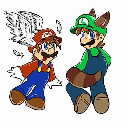 Mario Luigi Cap Wing Raccoon Mariobrosyaoifan12 Deviantart