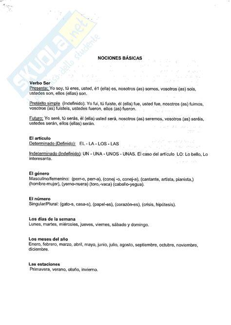 Test Di Spagnolo Spagnolo Esercizi E Grammatica