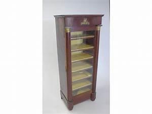 Petit Meuble Vitrine : petit meuble vitrine en acajou et placage d 39 acajou ~ Melissatoandfro.com Idées de Décoration