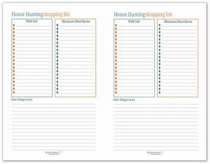 Hunting Shopping Half Printable Printables Planner Pages