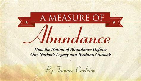 measure  abundance  chamber  commerce foundation