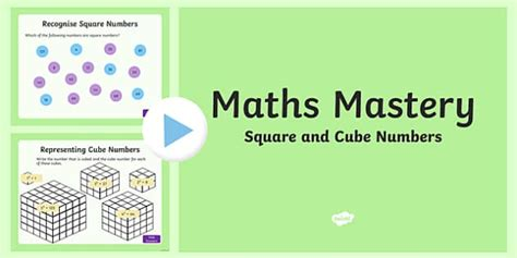 year 5 multiplication and division square and cube numbers