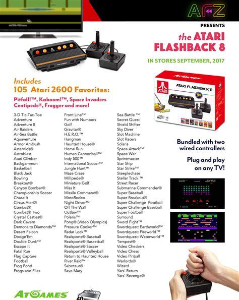 atari flashback  classic game console  built  games