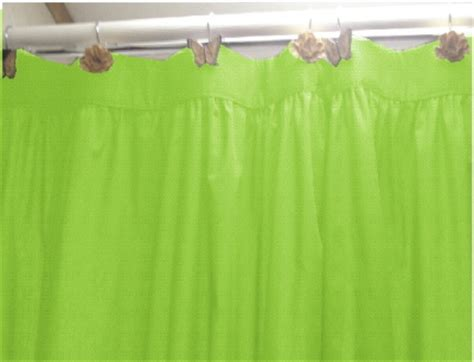 Solid Green Shower Curtain by Solid Lime Green Colored Shower Curtain