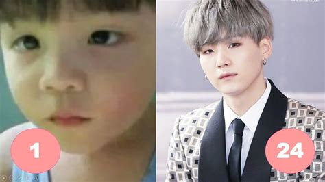 How Old Is Bts Suga Suga Bts Childhood From 1 To 24 Years Old Youtube