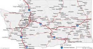 Map of Washington Cities - Washington Road Map Washington