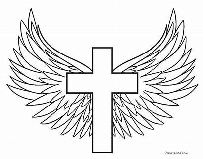 Coloring Cross Pages Wings Printable Drawing Rocks