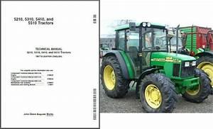 John Deere 5210 5310 5410 5510 Tractor Service Repair Workshop Manual Cd Tm1716 For Sale