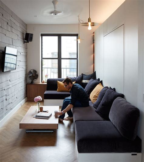 minimalist apartment  cool couch