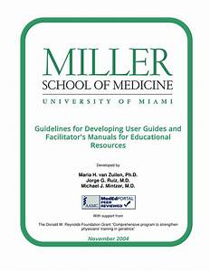 Pdf  Guidelines For Developing User Guides And