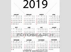 Clipart calendário, 2019 k17334718 Busca de Clip Art