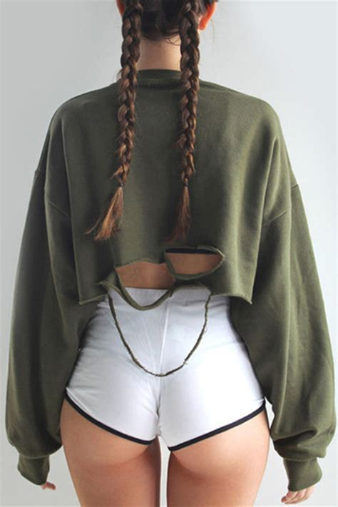 Sweater ripped khaki green torn jumper fall outfits fall outfits cute streetwear ...