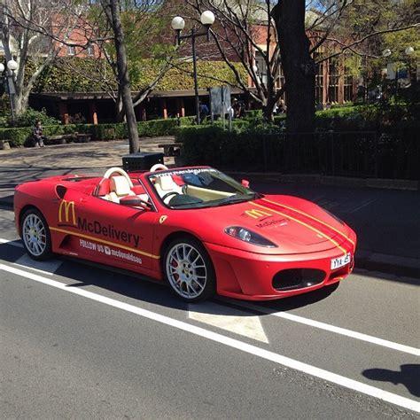 Mcdonald's Delivering Food In A Ferrari