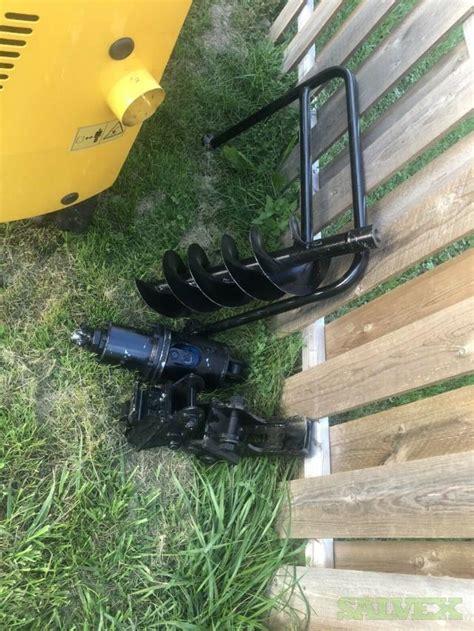 hour  mini excavator rubber track backhoe dozer blade gas attachment salvex