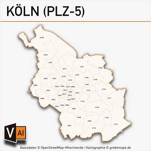 Köln Plz Karte : k ln postleitzahlen karte plz 5 vektor grebemaps kartographie ~ Eleganceandgraceweddings.com Haus und Dekorationen