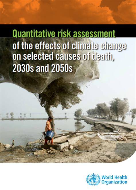 quantitative risk assessment   effects  climate