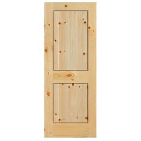 home depot solid wood interior doors masonite 36 in x 84 in knotty pine veneer 2 panel plank solid wood interior barn door slab