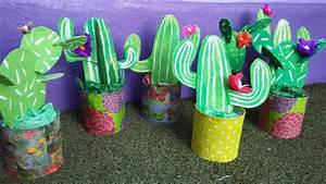 Tin Can & Cardboard Cactus Craft - Fun Crafts Kids