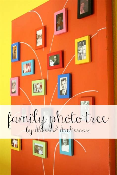 family photo tree   upcycled door  images