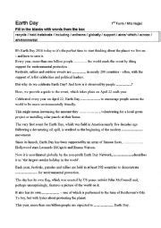 worksheets earth day