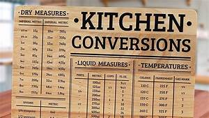 Baking Conversion Chart How To Convert Metric Measurements Into Imperial Measurements