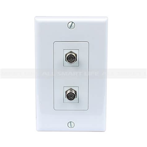 Tv Plate New Easy Removable Installation 2 Port Coax Cable Tv F Type Wall Plate