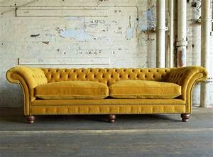 Chesterfield Sofa Modern : modern handmade mustard rutland velvet chesterfield sofa front washington apartment ~ Indierocktalk.com Haus und Dekorationen